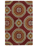 RugStudio presents Kaleen Global Inspirations Glb09-25 Red Hand-Tufted, Good Quality Area Rug