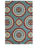 RugStudio presents Kaleen Global Inspirations Glb09-91 Teal Hand-Tufted, Good Quality Area Rug