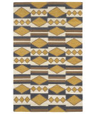 RugStudio presents Kaleen Nomad Nom07-05 Gold Flat-Woven Area Rug