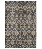 RugStudio presents Kaleen Restoration Res01-02 Black Hand-Knotted, Better Quality Area Rug