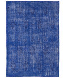 RugStudio presents Kaleen Restoration Res01-17 Blue Hand-Knotted, Better Quality Area Rug