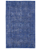 RugStudio presents Kaleen Restoration Res04-17 Blue Hand-Knotted, Better Quality Area Rug