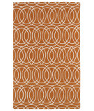 RugStudio presents Kaleen Revolution Rev02-89 Orange Hand-Tufted, Good Quality Area Rug