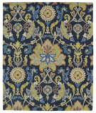 RugStudio presents Kaleen Taj Taj02-22 Navy Blue Hand-Tufted, Good Quality Area Rug