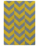 RugStudio presents Kaleen Trends Trn02-28 Yellow Hand-Tufted, Good Quality Area Rug