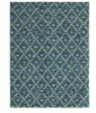 RugStudio presents Karastan Woven Impressions Diamond Ikat Indigo 35502-23135 Machine Woven, Better Quality Area Rug
