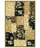 RugStudio presents Karastan Sierra Mar Jakarta Batik Ivory-Black Machine Woven, Good Quality Area Rug