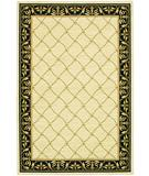 RugStudio presents Karastan Sierra Mar Marie Louise Ivory-Black Machine Woven, Good Quality Area Rug