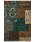 RugStudio presents Karastan Studio - Carmel Pescadero Teal 74700-13109 Machine Woven, Good Quality Area Rug
