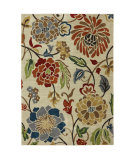 RugStudio presents Karastan Intermezzo Ghana Floral Croissant Machine Woven, Good Quality Area Rug