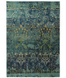 RugStudio presents Karastan Intermezzo Vintage Ballroom Deep Teal Machine Woven, Good Quality Area Rug