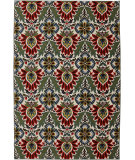 RugStudio presents Karastan Panache Dahlia Sagebrush Green Machine Woven, Good Quality Area Rug