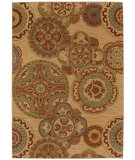 RugStudio presents Karastan English Manor Chesterfield 2120-00551 Beige Machine Woven, Good Quality Area Rug