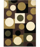RugStudio presents KAS Moda Circles Plum/ivory 6938 Machine Woven, Good Quality Area Rug