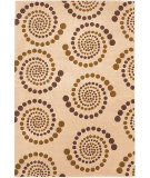 RugStudio presents KAS Moda Spirals Ivory 6940 Machine Woven, Good Quality Area Rug