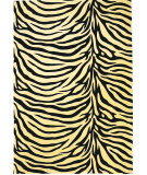 RugStudio presents KAS Moda Zebra Ivory/black 6941 Machine Woven, Good Quality Area Rug