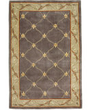 RugStudio presents KAS Ruby Fleur-De-Lis Grey Blue 8926 Hand-Tufted, Good Quality Area Rug