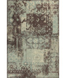 RugStudio presents Kas Allure 4053 Blue / Mocha Hand-Tufted, Good Quality Area Rug