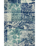RugStudio presents Kas Allure 4062 Blue / Green Hand-Tufted, Good Quality Area Rug
