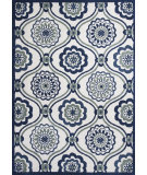 RugStudio presents KAS Allure 4082 Ivory/Navy Mosaic Hand-Tufted, Good Quality Area Rug