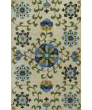 RugStudio presents Rugstudio Sample Sale 88961R Ivory / Blue Hand-Hooked Area Rug