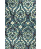 RugStudio presents Kas Anise 2411 Teal Hand-Hooked Area Rug