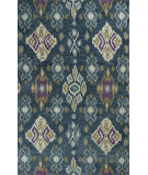 RugStudio presents Kas Anise 2412 Blue Hand-Hooked Area Rug