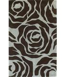 RugStudio presents Kas Bali Illusions Aqua-Mocha 2812 Hand-Tufted, Good Quality Area Rug