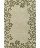 RugStudio presents Kas Bali Flora Border Sand-Sage 2823 Hand-Tufted, Good Quality Area Rug