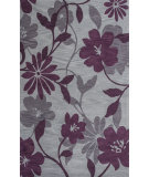 RugStudio presents KAS Bali 2861 Grey/Plum Elegance Hand-Tufted, Good Quality Area Rug