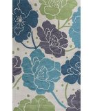 RugStudio presents KAS Bali 2869 Ivory/Blue Bella Hand-Tufted, Good Quality Area Rug