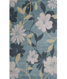 RugStudio presents KAS Bali 2870 Seafoam /Grey Elegance Hand-Tufted, Good Quality Area Rug
