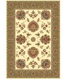 RugStudio presents Kas Cambridge Floral Mahal Ivory-Sage 7323 Machine Woven, Good Quality Area Rug
