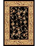 RugStudio presents Kas Cambridge Floral Delight Black-Beige 7336 Machine Woven, Good Quality Area Rug