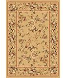 RugStudio presents Kas Cambridge Floral Delight Beige 7338 Machine Woven, Good Quality Area Rug