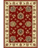 RugStudio presents Kas Cambridge Floral Mahal Red-Ivory 7340 Machine Woven, Good Quality Area Rug