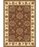 RugStudio presents Kas Cambridge Floral Mahal Plum-Ivory 7341 Machine Woven, Good Quality Area Rug