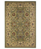 RugStudio presents Kas Cambridge 7304 Green/Taupe Machine Woven, Good Quality Area Rug