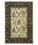RugStudio presents Kas Cambridge 7310 Ivory/Black Machine Woven, Good Quality Area Rug