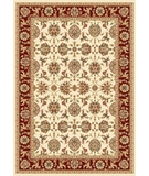 RugStudio presents Kas Cambridge Kashan 7312 Ivory Red Machine Woven, Good Quality Area Rug