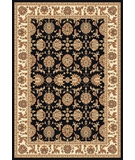 RugStudio presents Kas Cambridge Kashan 7313 Black Ivory Machine Woven, Good Quality Area Rug