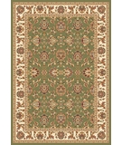 RugStudio presents Kas Cambridge Kashan 7314 Green Ivory Machine Woven, Good Quality Area Rug