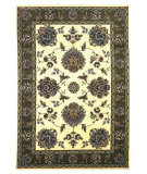 RugStudio presents Kas Cambridge 7323 Ivory/Sage Machine Woven, Good Quality Area Rug
