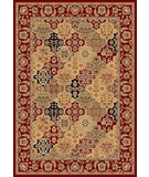 RugStudio presents Kas Cambridge Kashan Panel 7325 Red Machine Woven, Good Quality Area Rug