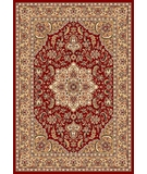RugStudio presents Kas Cambridge Kashan Medallion 7326 Red Beige Machine Woven, Good Quality Area Rug