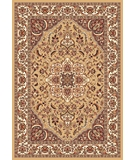 RugStudio presents Kas Cambridge Kashan Medallion 7328 Beige Ivory Machine Woven, Good Quality Area Rug