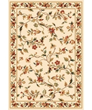 RugStudio presents Kas Cambridge Floral Vine 7331 Ivory Machine Woven, Good Quality Area Rug