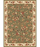RugStudio presents Kas Cambridge Floral Vine 7332 Sage Ivory Machine Woven, Good Quality Area Rug