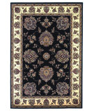 RugStudio presents Kas Cambridge 7339 Black/Ivory Machine Woven, Good Quality Area Rug