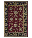 RugStudio presents Kas Cambridge 7342 Red/Black Machine Woven, Good Quality Area Rug